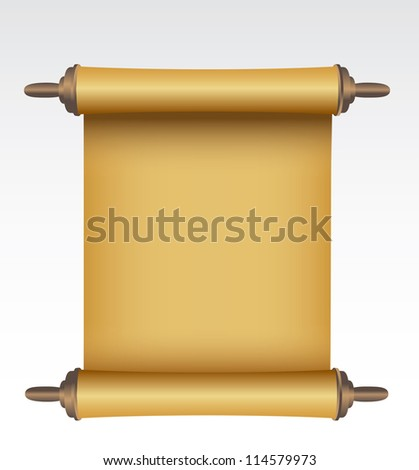 Old scroll. - stock photo