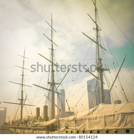 Old ship - stock photo