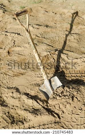 Old Shovel . - stock photo