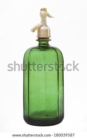 Old siphon on white background - stock photo