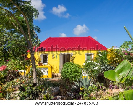Old Slave house Curacao   in the Dutch Antilles a Caribbean Island - stock photo