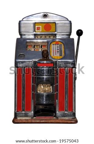Old Slot Machine - stock photo