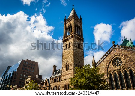Old South Church, in Boston, Massachusetts. - stock photo