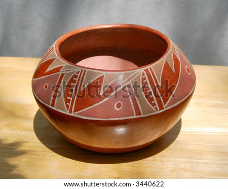Old Southwestern Indian Bowl - stock photo