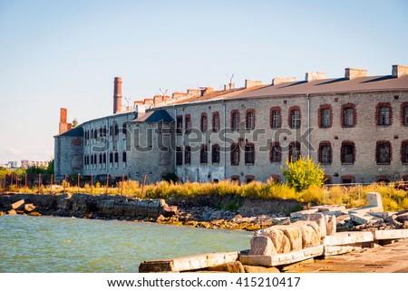 Old soviet Patarei prison from the ouside, Tallinn, Estonia - stock photo