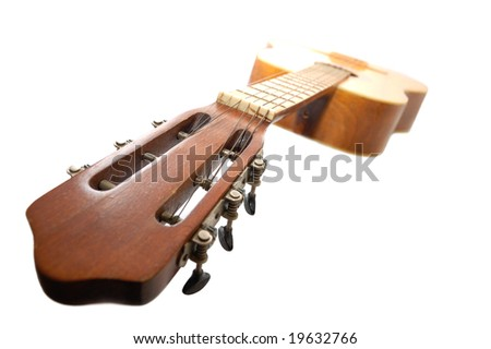 Old spanish guitar - stock photo