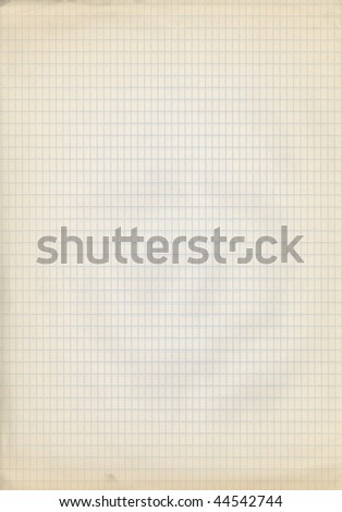 old square lined paper - stock photo
