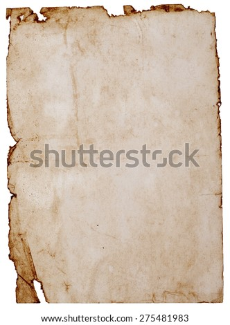 old stained paper great as a background - stock photo