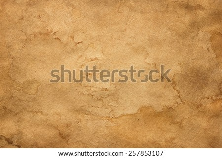 Old stained paper texture - stock photo
