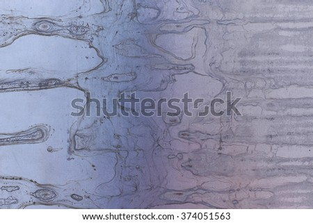 Old stainless steel texture background  with rainbow spots / Stainless steel - stock photo