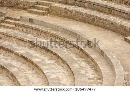 Old stairs background - stock photo