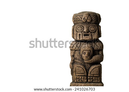 Old statue idol from south america - stock photo