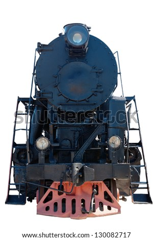 Old steam locomotive, a close up - stock photo