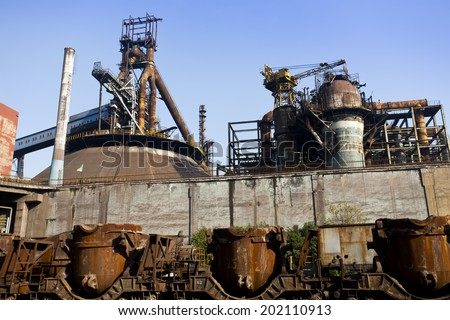 old steel mill.  - stock photo