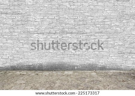 Old Stone Wall and Floor - stock photo