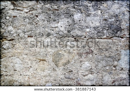 Old stone wall grunge texture - stock photo