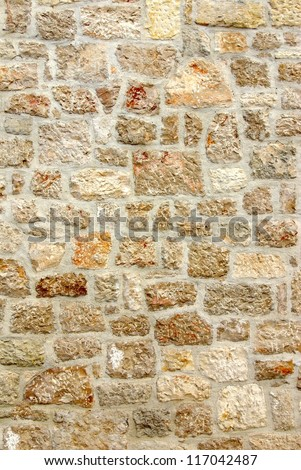 Old stone wall, texture background - stock photo