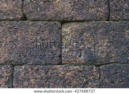 Old stone wall texture backgrounds  - stock photo
