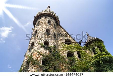 Old stones castle castle near to Sozopol town Bulgaria - stock photo