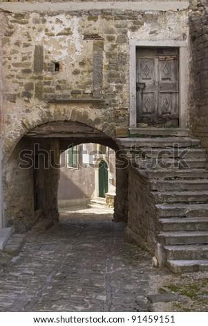 Old stony house - stock photo