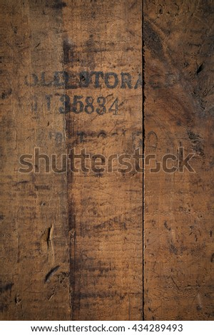 old storage - wooden background - stock photo