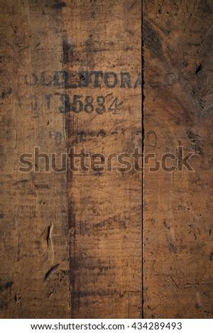 old storage - wooden background - stock photo