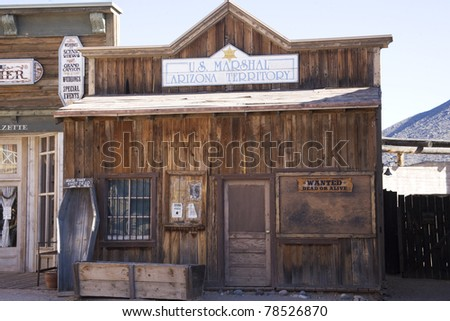Old store front in Tucson - stock photo