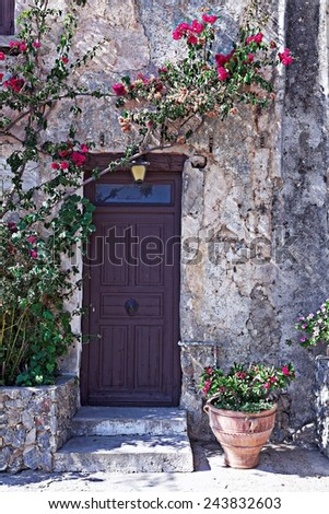 old street of Chania, Greece - stock photo