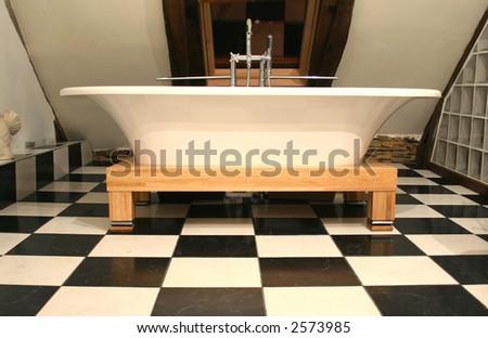 old style bathtub - stock photo