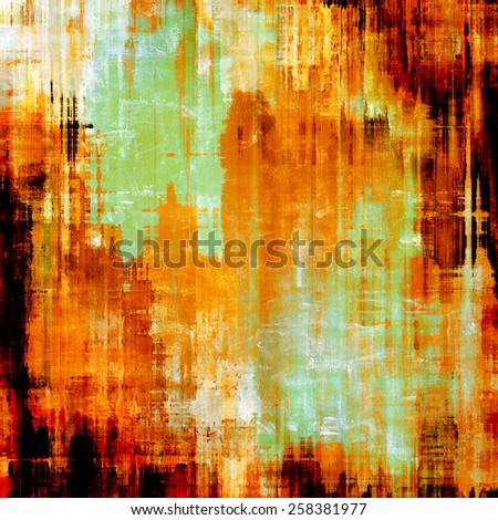Old style detailed texture - retro background with space for text or image. With different color patterns: yellow (beige); brown; red (orange); green - stock photo