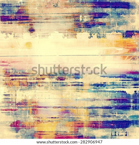 Old style detailed texture - retro background with space for text or image. With different color patterns: yellow (beige); blue; purple (violet); cyan - stock photo