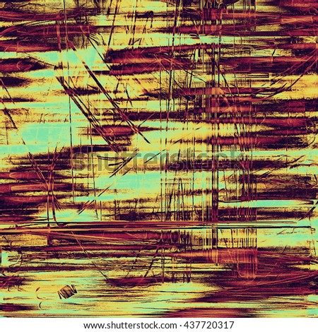 Old style distressed vintage background or texture. With different color patterns: yellow (beige); brown; red (orange); purple (violet); pink; cyan - stock photo