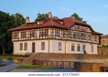 Old style house in Serbia - stock photo