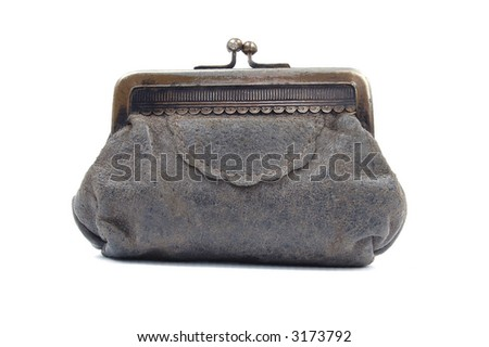 old suede wallet - stock photo