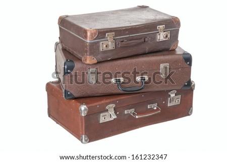 old suitcase - stock photo