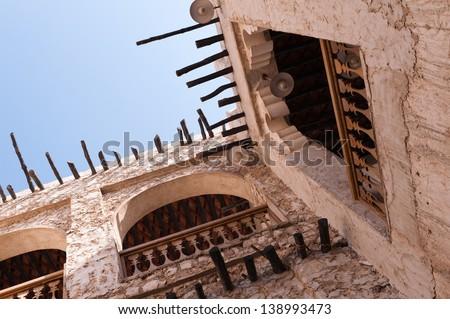Old Suq in Doha, Qatar - stock photo