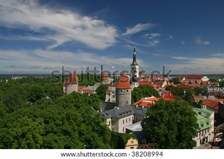 Old Tallin sight - stock photo