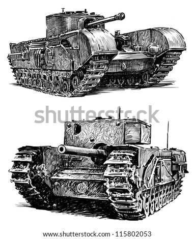 old tanks - stock photo