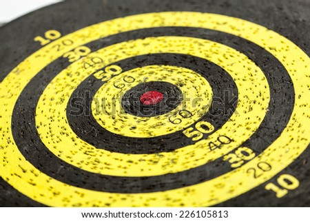 Old target board with numbers - stock photo