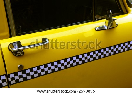 old taxi detail - stock photo