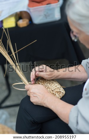 old technique of making a beehive - stock photo
