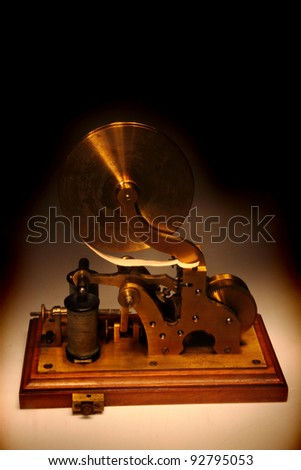 old telegraph - stock photo