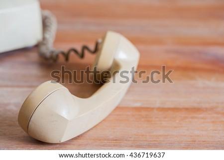 Old telephone - stock photo
