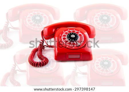 old telephone. Collage - stock photo