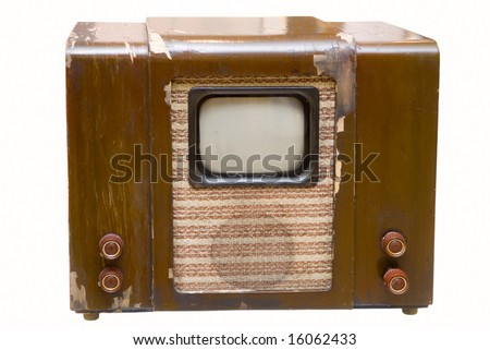 Old telly - stock photo