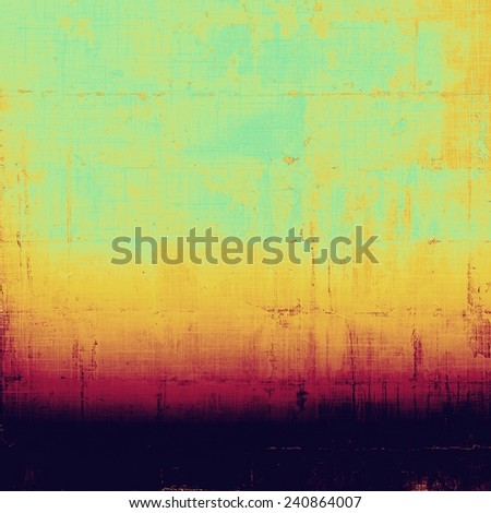 Old texture as abstract grunge background. With different color patterns: cyan; yellow (beige); purple (violet); pink - stock photo