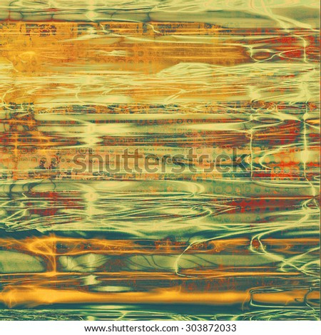 Old texture as abstract grunge background. With different color patterns: yellow (beige); brown; red (orange); green - stock photo