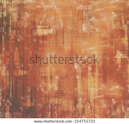Old texture or antique background. With different color patterns: yellow (beige); brown; gray; red (orange) - stock photo