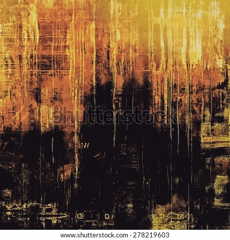 Old Texture or Background. With different color patterns: yellow (beige); brown; black - stock photo