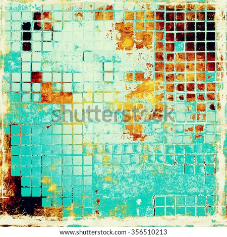 Old texture - perfect background with space for your text or image. With different color patterns: yellow (beige); brown; blue; white - stock photo